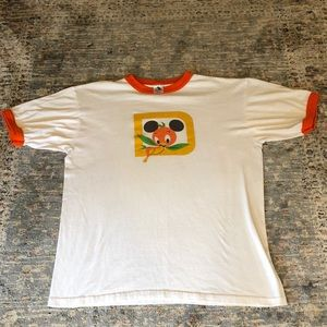 Disney orange bird tee shirt large vintage